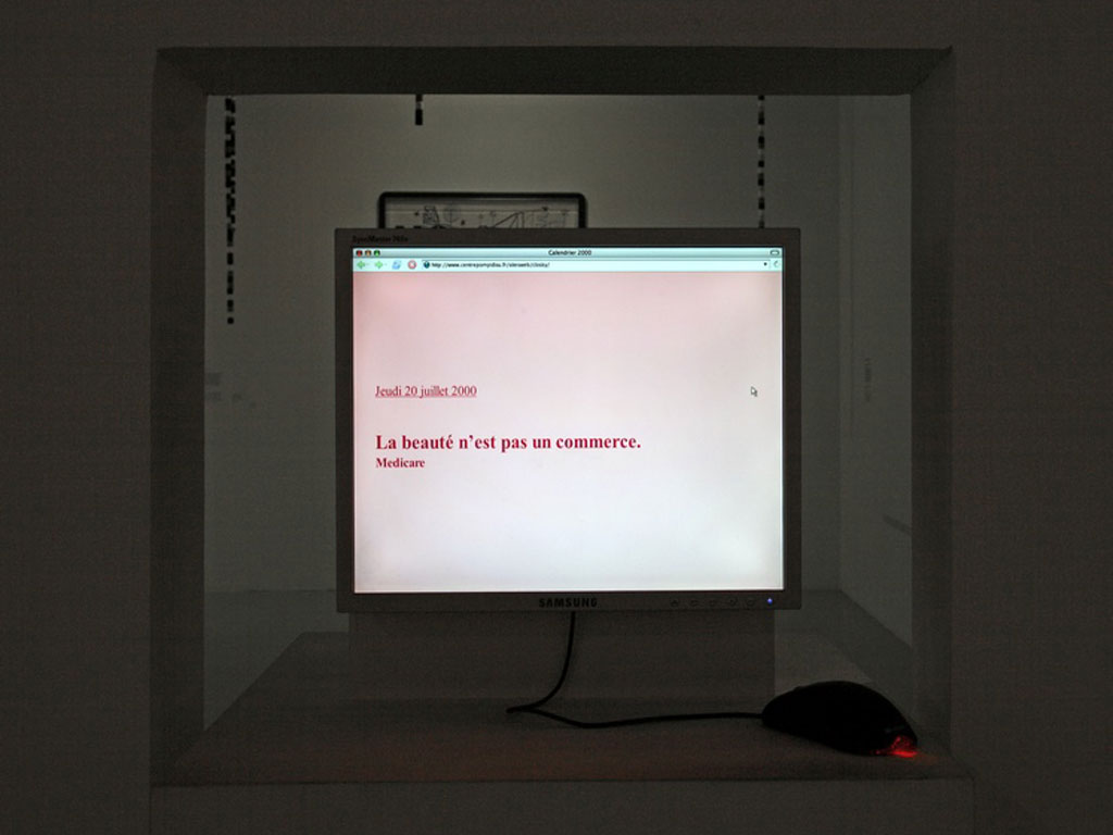 Claude Closky, 'Calendrier 2000 [2000 Calendar]', 1999, interactive web site, Html, Javascript (http://mediation.centrepompidou.fr/sitesweb/closky), 365 pages.